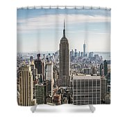 Empire State Building And Manhattan Skyline, New York City, Usa Shower Curtain