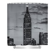Empire State Building Morning Twilight Iv Shower Curtain by Clarence Holmes