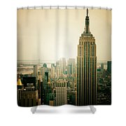 Empire State Building New York Cityscape Shower Curtain