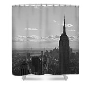 Empire State Building Panorama Shower Curtain