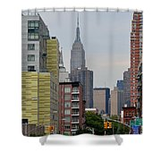 Empire State Empty Street Shower Curtain