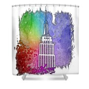 Empire State Of Mind Cool Rainbow 3 Dimensional Shower Curtain