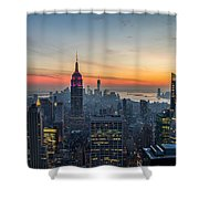 Empire State Sunset Shower Curtain