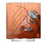 Emptiness - Tile Shower Curtain