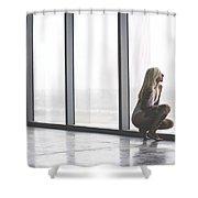 Emptiness Shower Curtain