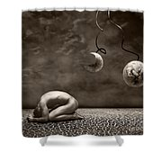 Emptiness Shower Curtain
