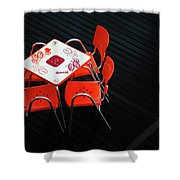 Empty Coffee Table Shower Curtain