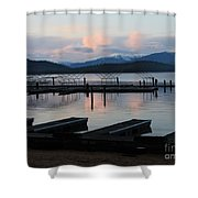 Empty Docks On Priest Lake Shower Curtain