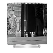 Empty Glasses Shower Curtain
