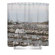 Empty Harbor Shower Curtain