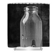 Empty Milk Bottle 1 Shower Curtain