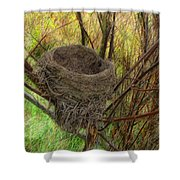 Empty Nest In Autumn Shower Curtain