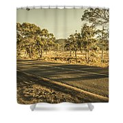 Empty Regional Australia Road Shower Curtain