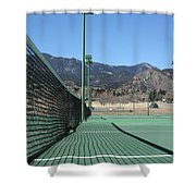 Empty Tennis Courts Shower Curtain