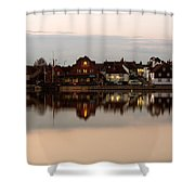 Emsworth At Dusk Shower Curtain