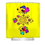 Emty Pretty Flowers Shower Curtain