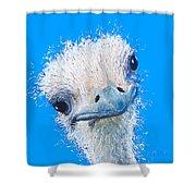 Emu Painting Shower Curtain