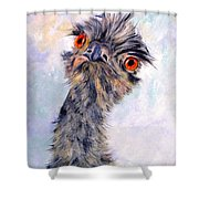 Emu Twister Shower Curtain