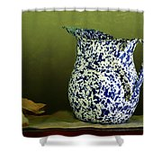 Enamelware - Pitcher Shower Curtain