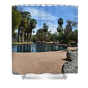 Encanto Park Lagoon Shower Curtain