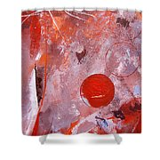 Encased In Red Shower Curtain