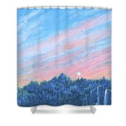 enchanced- Catching the SunSet Shower Curtain