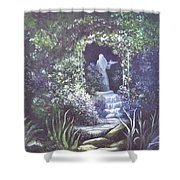 enchanced Temptation Coming Shower Curtain