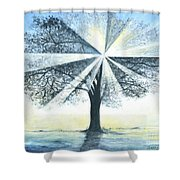 enchanced Tree Light Shower Curtain