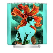 Enchanted Boy With Lilies Shower Curtain