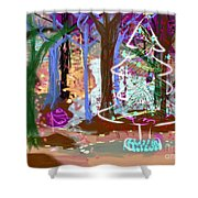 Enchanted Christmas Forest Shower Curtain