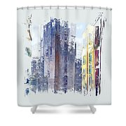 Enchanted City 2 Pf Shower Curtain