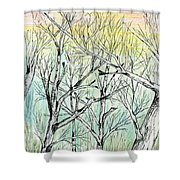 Enchanted Forest Music Shower Curtain