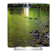 Enchanted Gorge Reflection Shower Curtain