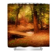 Enchanted Path - Allaire State Park Shower Curtain