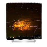 Enchanted Rock Lightning Shower Curtain