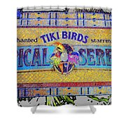 Enchanted Tiki Birds Shower Curtain