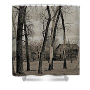 Home In The Wood Shower Curtain