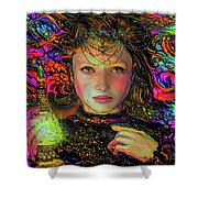 Enchantress  Shower Curtain