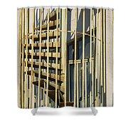Enclosed Fire Escape Shower Curtain