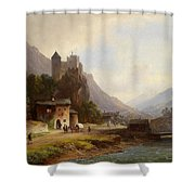 Encounter In A Mountain Valley Shower Curtain