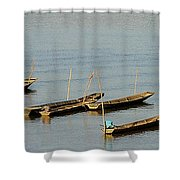 End Of A Days Fishing Shower Curtain
