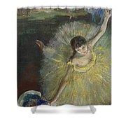 End Of An Arabesque Shower Curtain by Edgar Degas