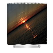 End Of An Off Balance Day Shower Curtain