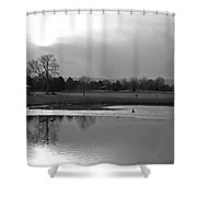 End Of Day Reflections Shower Curtain