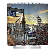 End Of Fishing Day Shower Curtain