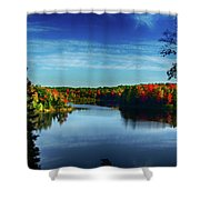 End Of The Day At The Lake Shower Curtain