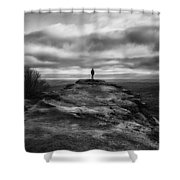End Of The Earth Shower Curtain