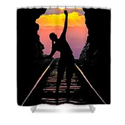 End Of The Line Shower Curtain