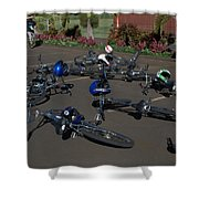 End Of The Ride Shower Curtain