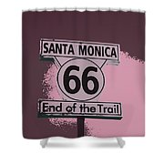 End Of The Trail 5 Shower Curtain